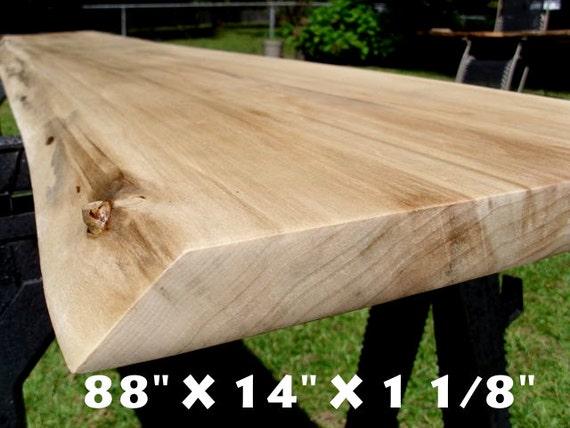 Live Edge Poplar Solid Hardwood Wood Slab Bench Top Work