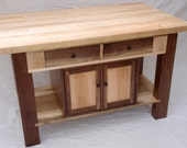 Reserved listing for Fran and Bob for  a Butcher Block Kitchen Island