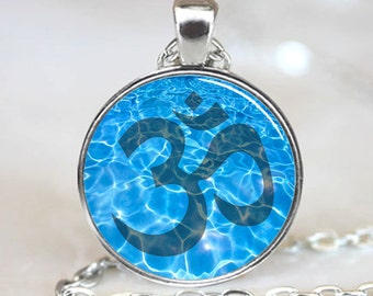 Namaste Necklace , Om Yoga Pendant, Zen Jewelry (PD0541)