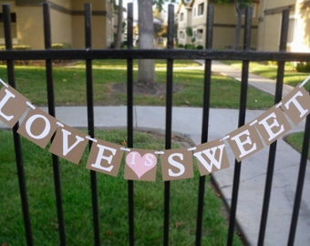 Love Is Sweet Banner - Choose Your Color For The Heart