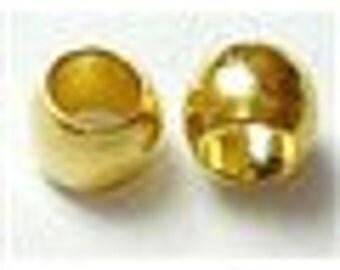 288 - Perle à écraser couleur or,  2mmx1.2mm trou 1.2mm  (500 pièces)
