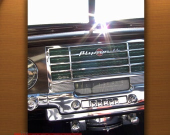 Plymouth Car Art, Automobile Photograph, Dashboard Picture, Old Car Photos, Vintage Car Prints, Boyfriend Gift, 8x10, 11x14, 16x20