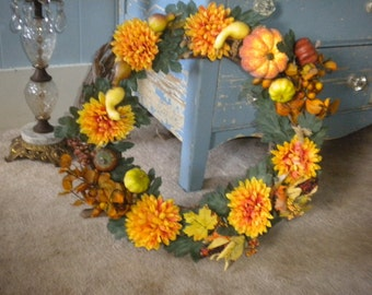 SALE.....Lovely Eclectic Fall wreath, Fall Decor, Door wreath, Eclectic Fall