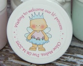 Baby Shower Favors - Personalized Whipped Body Butter (Our Princess - Design #1)