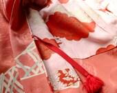 Corail Haori - Kimono court Vintage japonais
