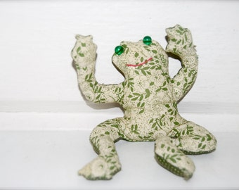 Vintage Stuffed, Posable Frog Toy