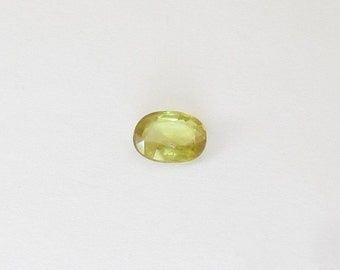 Natural Yellowish Green Sphene, Unheated, Oval Cut, 1.37 carat