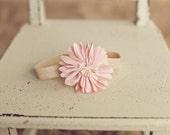 Light Pink Headband, Pink Headband, Newborn Headband, Baby Headband, Pink Flower Headband, Light Pink Flower Headband