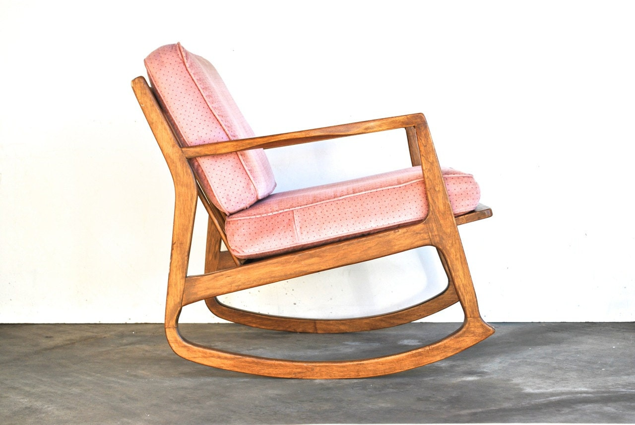 Mid Century Modern Rocking Chair Danish Modern Vintage