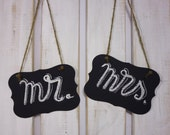 Wedding Chair Signs, Chalkboard Groom Bride Chair Signs, Wedding Chair Decor, Bride to Be Chair Sign Wedding Signs Chalk Boards