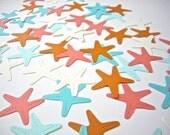 80 paper starfish, starfish die cut, scrapbook embellishment, wedding decoration, starfish