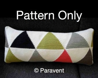 Crochet Triangle Cushion Pattern