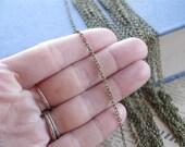 32 feet Antique Bronze Thin Chain 2 x 3mm (BCN2004)