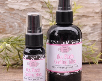 HOT FLASH Cooling Mist - Relief from menopausal hot flashes - Menopause Survival Gear