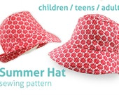 Sewing pattern summer hat for women and girls with brim hats women woman children mother daughter sew brimmed hat