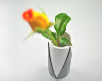 Small Geometric Polymer Clay Bud Vase