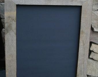 """14x16"""" Rustic Chalk board framed in old barn wood"""