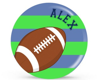 Personalized Plate - Football - Personalized Plate for Boys