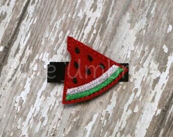 Felt Watermelon Hair Clip Single