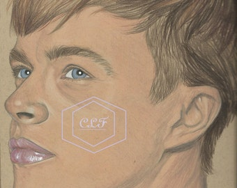 Dane DeHaan Drawing aka Harry Osborn
