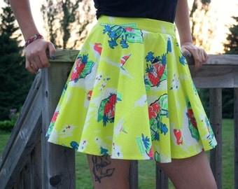 Neon Vacation Circle Skirt