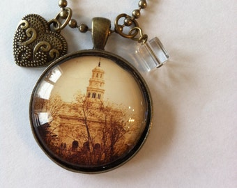 Nauvoo LDS Temple Pendant Necklace