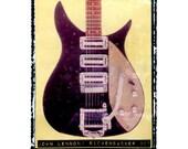 John Lennon Rickenbacker famous guitar art, beatles music wall decor, musicians gift, gift for guy, gift for boyfriend, hipster,