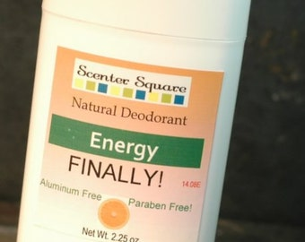 Finally! A Natural Deodorant that actually works -  Energy Citrus Scent