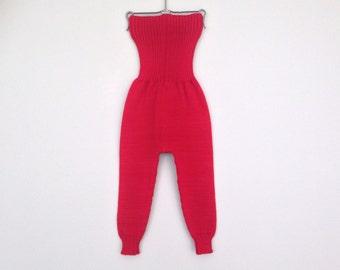 Baby Pants Trousers Leggings Clothing Knit Wool Warm Slim fit Boy Girl Red