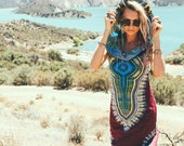Day Tripper Hoodie Dress, Festival Clothing, Festival, Tribal, African, Shaman, sexy tribal dress, psychedelic, festival dress, psy