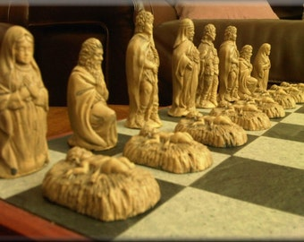 Christian Biblical Chess Set Jesus Mary Joseph St