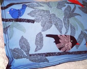 Clearance! Tropical birds on branch pillow shams, art deco bedding, tropical pillow shams