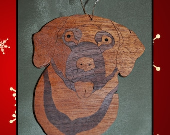 Dog - Wooden Christmas Ornament
