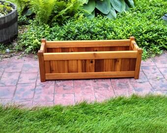 """Cedar Planter Box (10"""" x 30"""" rectangle)"""