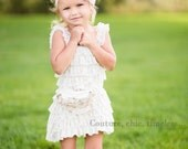 SALE Cream Ruffle Dress 6-12m