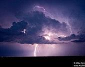 A Stunning Lightning Display Lights up an Oklahoma Sky