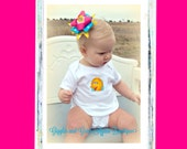 Big Bird Bodysuit with Over The Top Big Bird Hair Bow - 6 to 24 months
