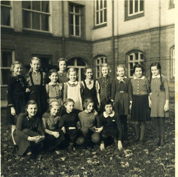 Vintage Photo School Class 1950s Girls School Class Photo