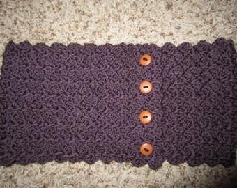 Crochet Button Cowl- Ready to Ship