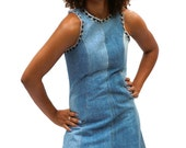 Jeans dress made of recycled jeans