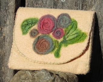 Shabby Chic Floral Jewelry Pouch
