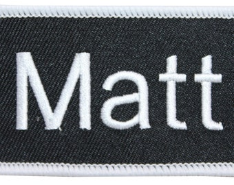 "Matt ""Matt"" Name Tag Uniform Identification Badge Embroidered Iron On Badge Applique Patch"