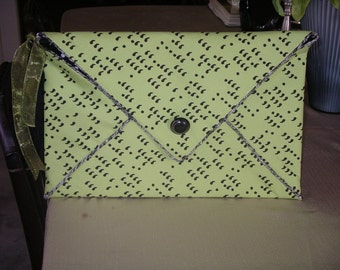 Chic comma envelope clutch or Laptop Carrier