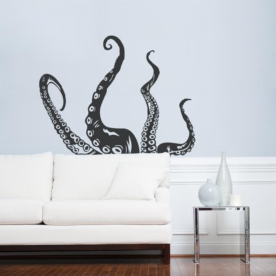 octopus tentacles wall art decal octopus decal tentacles. Black Bedroom Furniture Sets. Home Design Ideas