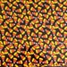 Monsters! - Candy Corn - Fabric - Black Halloween Fabric - Fat Qaurter Cut - Halloween Fabric - A E Nathan CO Fabric.