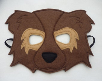 Bear cub mask, dress up or role play costume for children. Great gift or book character costume!