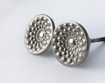 Vintage Metal Silver Tone Door Knobs, Door Handle, Round Knobs
