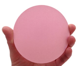 "4"" Bubblegum Paper Circles - Create Something Truly Unique!"