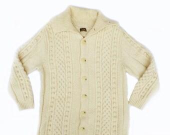 Vintage Mens German Fisherman Coat Sweater