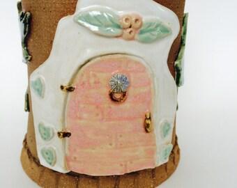 Fairy Door Herb Planter or Spoon Jar